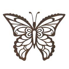 Fjäril väggdekoration siluett