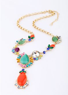 Nice Colorful Artificial Gemstone Necklace