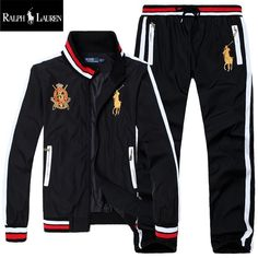 2019 new men's polo hoodies and sweatshirts sportswear man polo jacket pants jogging jogger sets turtleneck sports tracksuits sweat suits gfhgryr from adis. Polo Ralph Lauren Tracksuit, Mens Velour Tracksuit, Mens Designer Tracksuits, Mens Sweat Suits, Sports Tracksuits, Designer Jackets For Men, Polo Jackets, Track Suit Men, Jogger