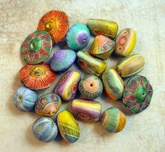 https://flic.kr/p/rxTfcM | Twins | Polymer Clay Beads