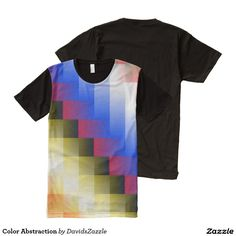Color Abstraction Men's Tee  Available on more products, type in the name of this design in the search bar on my Zazzle products page!  #abstract #art #geometric #color #blue #red #black #yellow #white #green #square #line #gradient #cool #hip #chic #contemporary #nice #mens #tee #shirt #t-shirt #printed