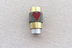 Beaded Heart Ring Tutorial