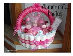 Diaper Cake Basket Pictures, Photos, and Images for Facebook, Tumblr, Pinterest, and Twitter