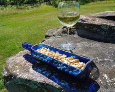 Skyy Vodka Bottle Tray Cobalt Blue by ConversationGlass on Etsy