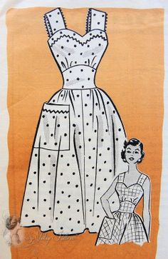 1950s Pretty Sun Dress Pattern Sweetheart Neckline Midriff Dress Anne Adams 4761 Vintage Sewing Pattern Bust 32 UNCUT