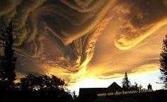 Die besten 100 Bilder in der Kategorie wolken: Wenn Gott malt - Wolkenformation in Abendsonne