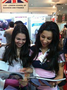 At the São Paulo, Brazil Salão do Estudante 2013 Fair. Photo taken by our Circulation and Translation Coordinator, Wesley Costa. http://studyusa.com