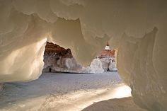 Apostle Islands Ice Caves, Wisconsin.