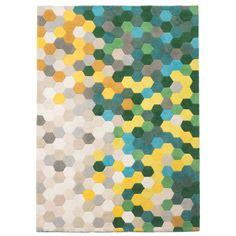 Kaleidoscope Green/Yellow Geometric Area Rug & Reviews   AllModern