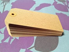 Kraft Gift Tags  100 Large Recycled Blank by TheVelvetSkyPaperie, $7.55