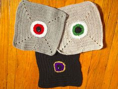 Shop for coasters on Etsy, the place to express your creativity through the buying and selling of handmade and vintage goods. Monster Eyes, Dishcloth, Shawls And Wraps, Knitted Hats, Stitch, Knitting, Creative, Handmade, Stuff To Buy