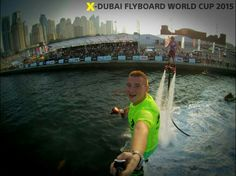 Mr.Selfie with Mr.Rippy  Hell yeah! We got the one and only Flyboard World Cup Selfie with Damone James!