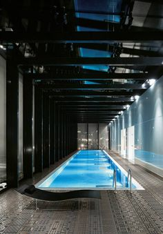 Duke's indoor pool at his penthouse apartment