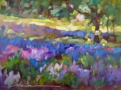 Lavender Peace and a Postcard Giveaway, painting by artist Dreama Tolle Perry