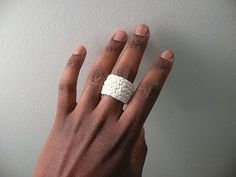 Simple Crochet Ring Band Crochet Jewelry Choose by dualchocolate...free pattern!