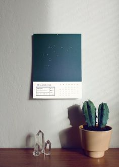 Miss Moss : astrology calendar by prismatic print shop Web Design, Tool Design, Design Art, Graphic Design, Print Design, Astrology Calendar, Zodiac Calendar, Kalender Design, Home Goods Decor