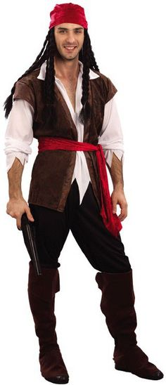 Homemade pirate costumes for men assembled his jack sparrow mens caribbean pirate man 6 piece fancy dress costume size small large listing in the captain costumehalloween menhalloween partiesdiy solutioingenieria Gallery
