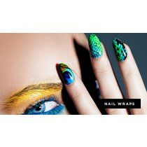 NCLA Lacquer - Nail Wrap Fowl Play (Peacock & Snakeskin) A perfect gift for every fashionable lady out there ♥