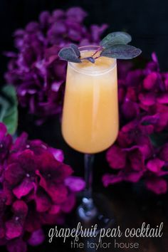 Delicious and light Grapefruit Pear Cocktail Recipe!