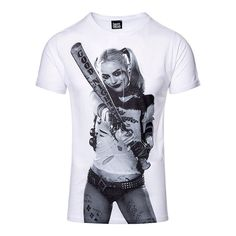 DC Comics Suicide Squad Adults Harley Quinn T Shirt - White - Small