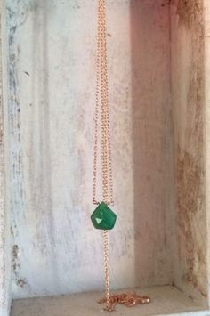 10 Etsy Jewelers You Need To Know About: EnzoLuccati 14K Emerald Drop Pendant Necklace $395