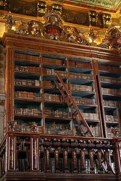 Biblioteca Joanina, Universidade de Coimbra, Portugal Join me on my journey to all the undiscovered countries. Cozy Library, Dream Library, Fire Nation, Classic Library, Minecraft House Designs, Beautiful Library, Fantasy City, World Of Books, Home Room Design