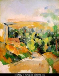 A Bend In The Road - Paul Cezanne - www.paul-cezanne.org