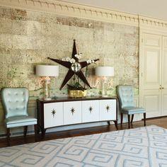 Global Views Charleston Chair Blue with Walnut Finish @Zinc_Door #zincdoor #new #seating
