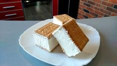 Biscuits ice cream: the delicious recipe with just 3 ingredients Homemade Ice Cream, Few Ingredients, Vanilla Cake, Biscuits, Cheesecake, Deserts, Food And Drink, Yummy Food, Sweets