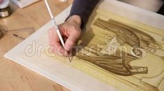 Video about Iconographer painting - hand woman painting carefully icon. Video of craft, hand, brush - 79154641 Woman Painting, Crafts, Image, Art, Art Background, Manualidades, Kunst, Handmade Crafts, Performing Arts