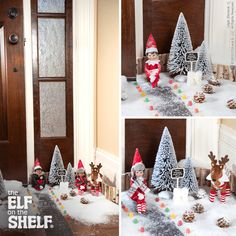 In honor of the first day of Winter, these elves brought a little bit of the North Pole home! | Elf on the Shelf Ideas