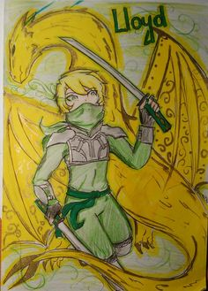 Ninjago - Lloyd (I'm still the truly gold master) by Squira130.deviantart.com on @deviantART