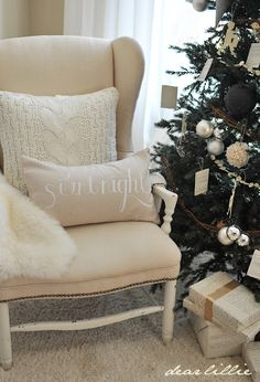silent night pillow by Dear Lillie