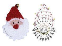Snowmen Set of 6 Christmas Ornaments Package Tie Gift Crochet Snowman Crochet Christmas Decorations, Christmas Crochet Patterns, Crochet Christmas Ornaments, Crochet Decoration, Holiday Crochet, Santa Ornaments, Christmas Crafts, Noel Christmas, Crochet Santa
