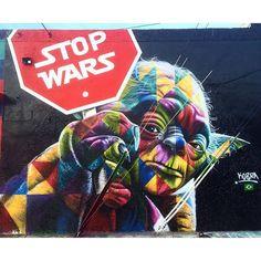 | Stop Wars | by @kobrastreetart in Wynwood, Miami ▪️snap by @pavlitosway ▪️#streetart #miami #graffiti