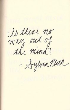 sylvia plath, if only prozak had been around for her...