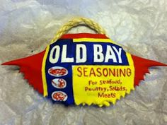 Old Bay Crab Shell Ornament