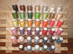 40 Spools Polyester Embroidery Machine Thread Set by Kolors Embroidery, http://www.amazon.co.uk/dp/B005HHM5XG/ref=cm_sw_r_pi_dp_qBz7sb02HB4EP