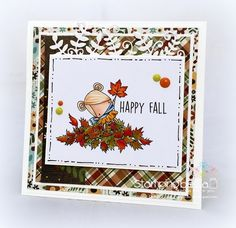 Stamping Bella SNEAK PEEK DAY 2 : THE LITTLES PLAYING IN THE LEAVES card by Sandie Dunne