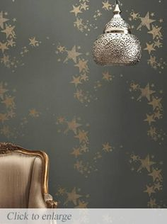 All Star wallpaper available to buy online. Grey & Gold modern wallpaper by Barneby Gates at best online price. Free UK delivery on orders over Gold Modern Wallpaper, Star Wallpaper, Grey Wallpaper, Really Cool Wallpapers, Pretty Wallpapers, Playroom Wallpaper, Grey And Gold, Beautiful Homes, House Beautiful