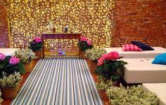 Decoração de casamento. Casamento rústico nas cores rosa e azul
