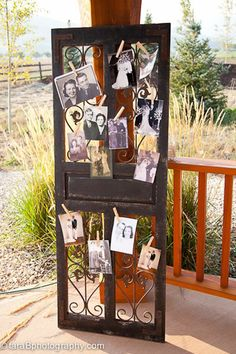 vintage in memory of wedding ideas to display pictures of those who have passed