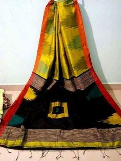 Handloom Jamdani with Temple Border Holi Offer, Cotton Silk, Silk Sarees, Tie Dye Skirt, Pure Products, Fabric, Temple, Pattern, Cod