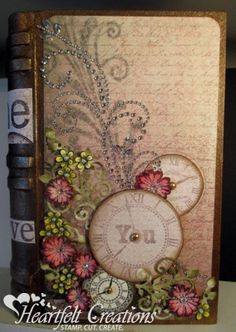 Art journal inspiration. Heartfelt Creations | Time With You Book