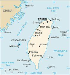 Map of Taiwan © CIA Image