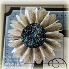 Fan Fold Flower SCS video tutorial by Beate #DIY #flower #craft