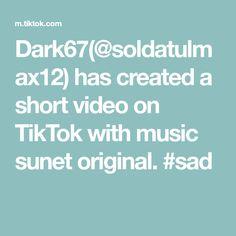 Dark67(@soldatulmax12) has created a short video on TikTok with music sunet original. #sad Sad, The Originals, Music, Musica, Musik, Muziek, Music Activities, Songs