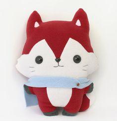 """Plushie Sewing Pattern PDF - Kitsu Fox cute soft plush toy - cuddly stuffed animal 14"""""""
