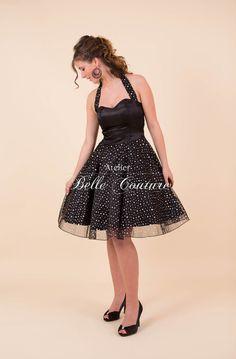 """Partykleid Silvesterkleid """"Glitter II""""04 von Atelier Belle Couture 50er Jahre Petticoatkleider Rockabilly Kleider auf DaWanda.com"""