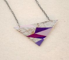 geometric necklace - hand painted, this could be a painting in my room!
